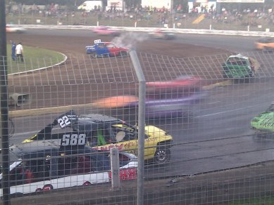 Banger racing at Foxhall